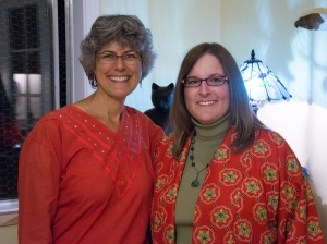 From left to right: Joyce Leonard (Lori's Reiki Teacher) and Lori McClellan, RMT.